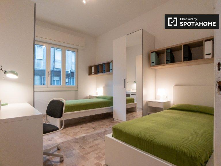 Bett zu vermieten in 2-Zimmer-Wohnung in Villapizzone, Mailand