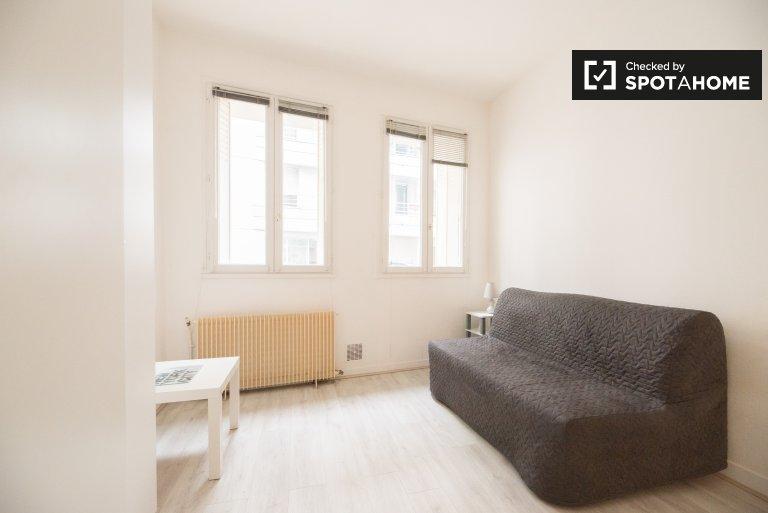 Furnished studio for rent in Boulogne-Billancourt, Paris