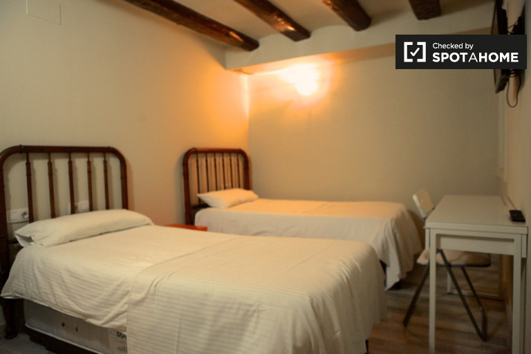 Cozy room in 4-bedroom apartment in El Raval, Barcelona