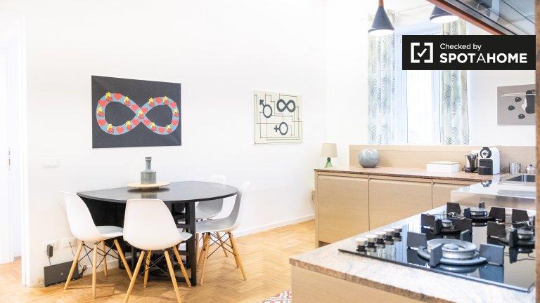 Acolhedor apartamento com 2 quartos para alugar em Monteverde, Roma