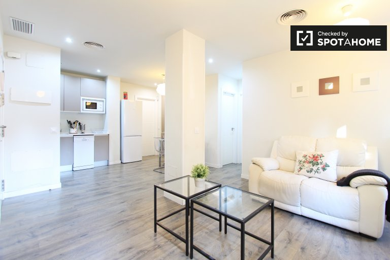 Modern 2-bedroom apartment with AC for rent in Retiro