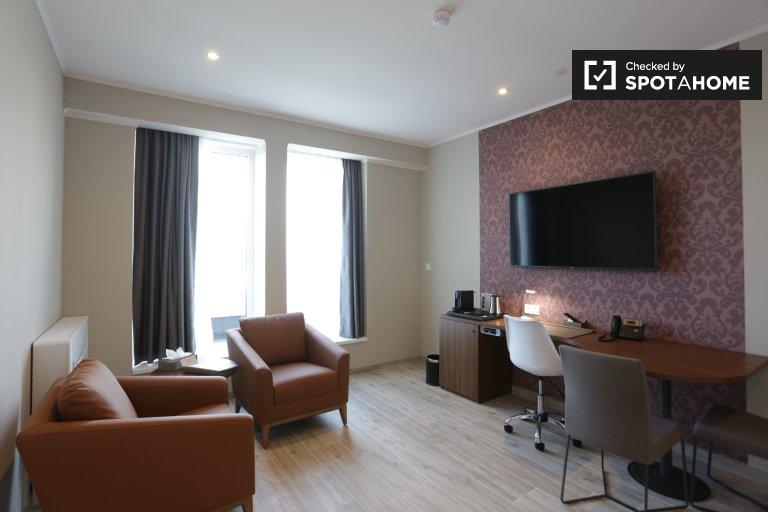 Mieszkanie 1-pokojowe do wynajęcia w centrum miasta w Belgii.