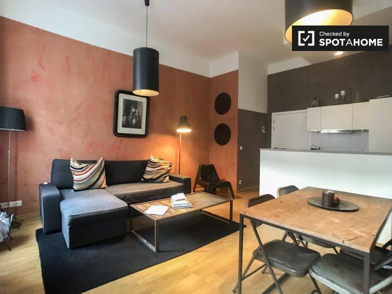 Moderne 1-Zimmer-Wohnung im Zentrum von Brüssel zu vermieten