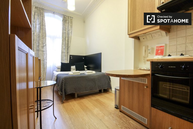 Furnished studio apartment to rent in Kings Cross, London