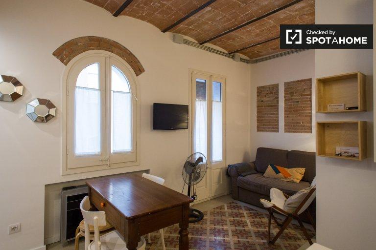 Stilvolle 1-Zimmer-Wohnung in La Barceloneta zu vermieten