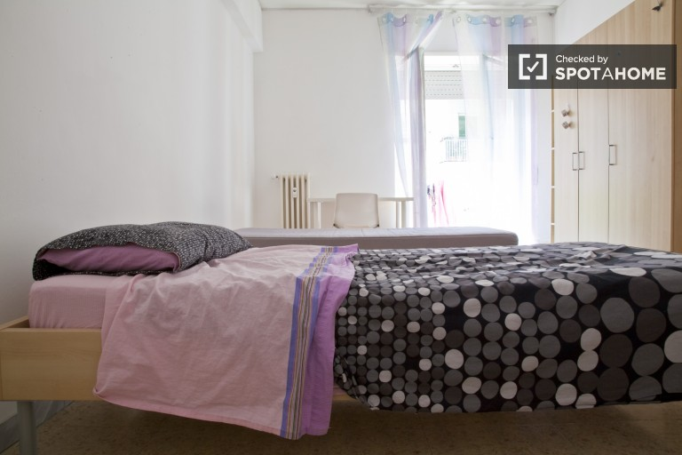 Bedroom 2 with 2 beds for rent in a shared occupancy bedroom with balco