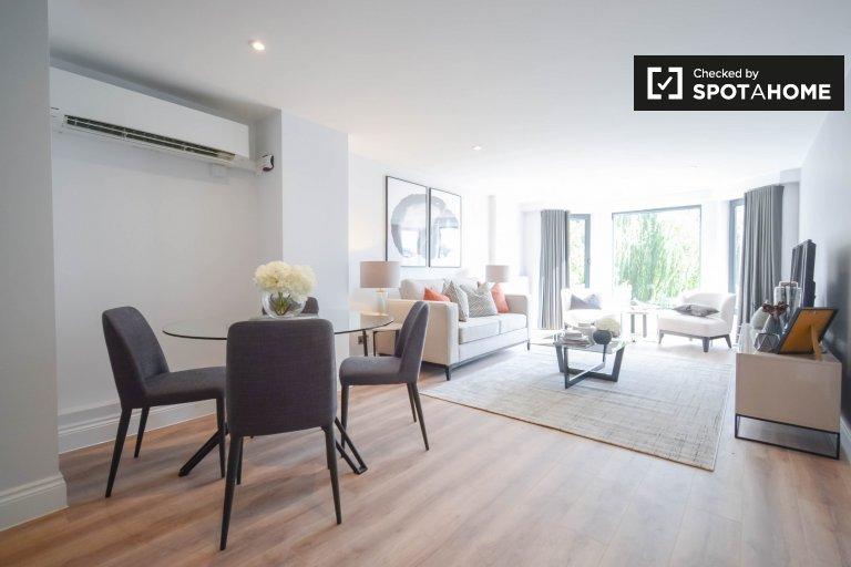 Modern 2-bedroom flatshare to rent in Kensington, London