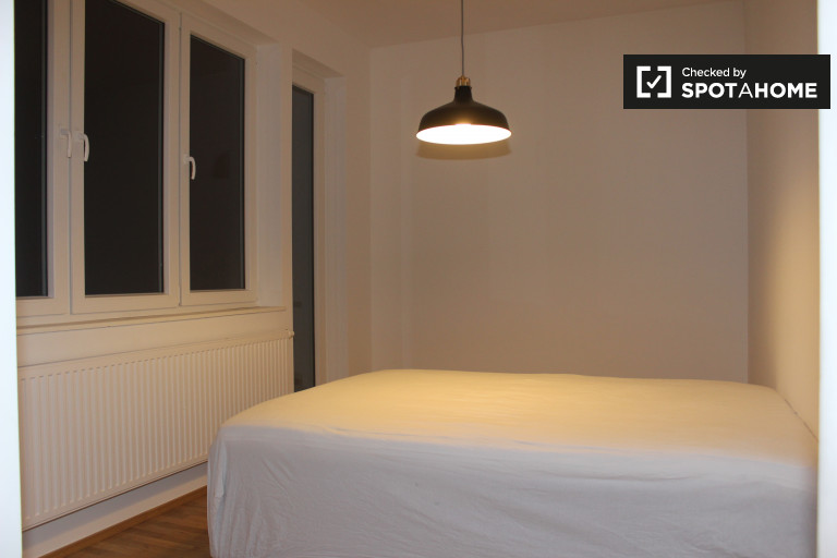 Bedroom 1 with double bed, ensuite, balcony and kitchenette
