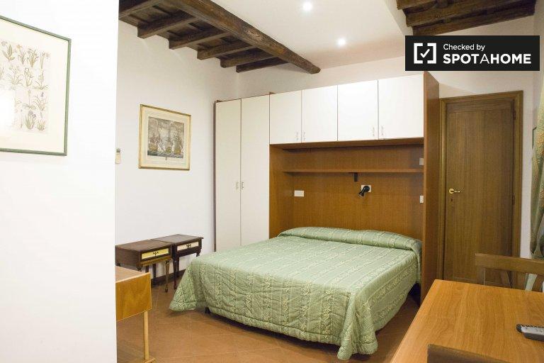 Przyjemny apartament typu studio do wynajęcia w historycznym centrum Rzymu
