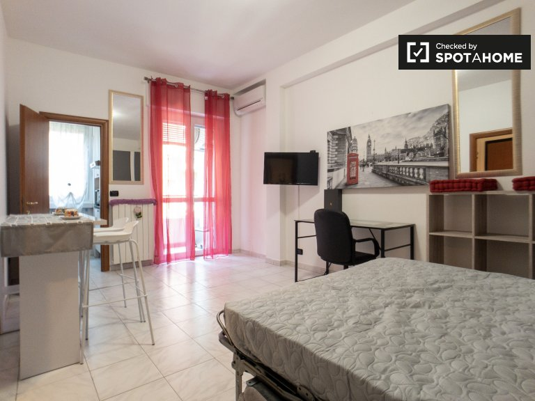 Renovated studio apartment for rent in Forze Armate, Milan