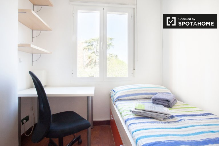 Cosy room for rent in 3-bedroom apartment, Chamartín, Madrid