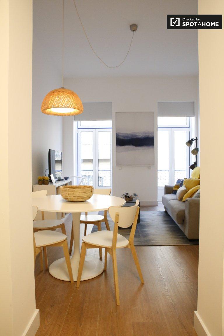 Cais do Sodré'de kiralık modern 1 yatak odalı daire, Lizbon