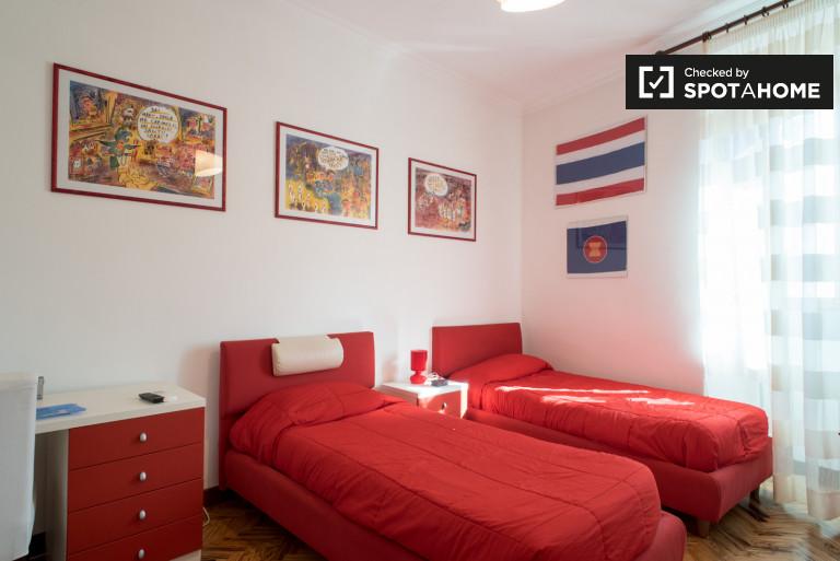 Camera doppia con 2 camere da letto nel centro di Roma