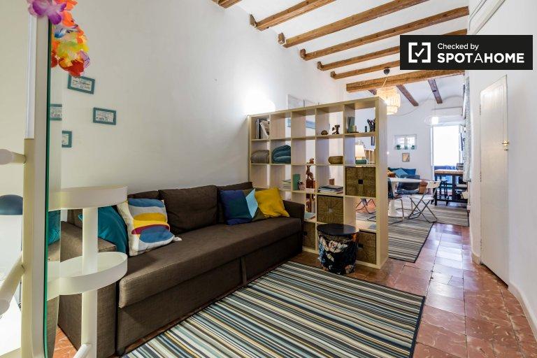 Apartamento de 1 quarto chique para alugar em Extramurs, Valência