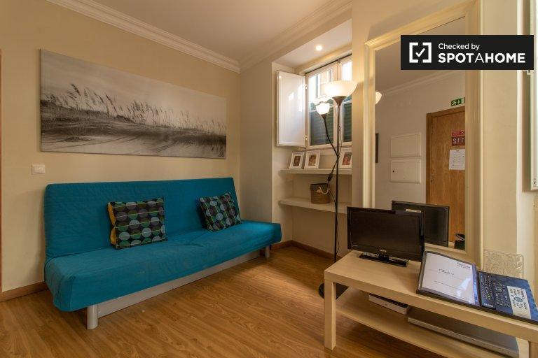 Elegancki 1-pokojowy apartament do wynajęcia w Bairro Alto w Lizbonie