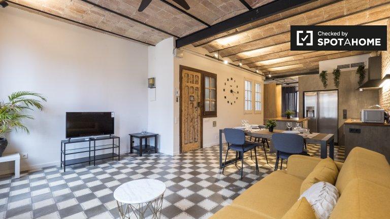 1-Zimmer-Wohnung zur Miete in Poblenou, Barcelona