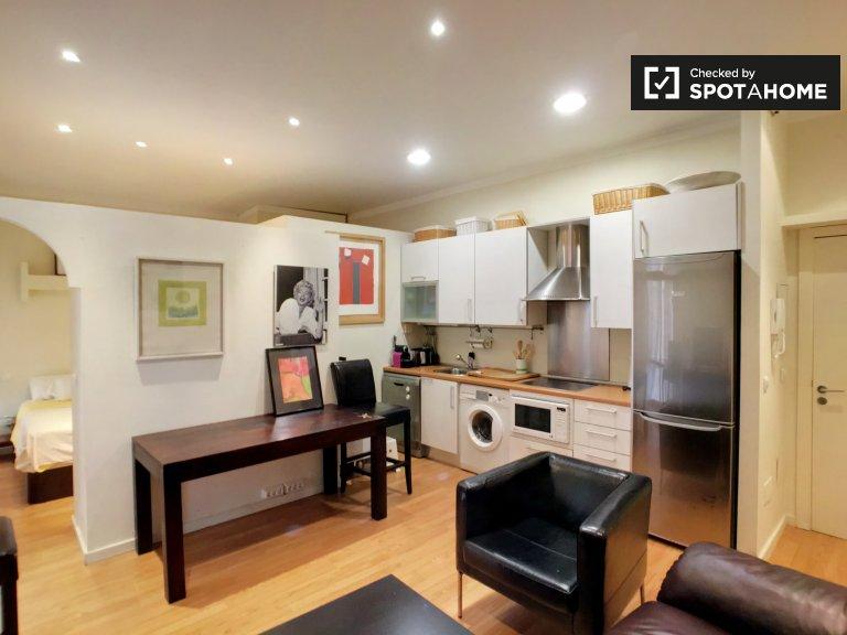 Piękny 1-pokojowy apartament do wynajęcia w Centro w Madrycie.
