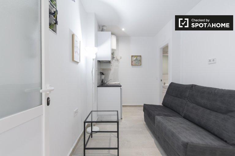 Nowoczesne 1-pokojowe mieszkanie do wynajęcia w Usera w Madrycie