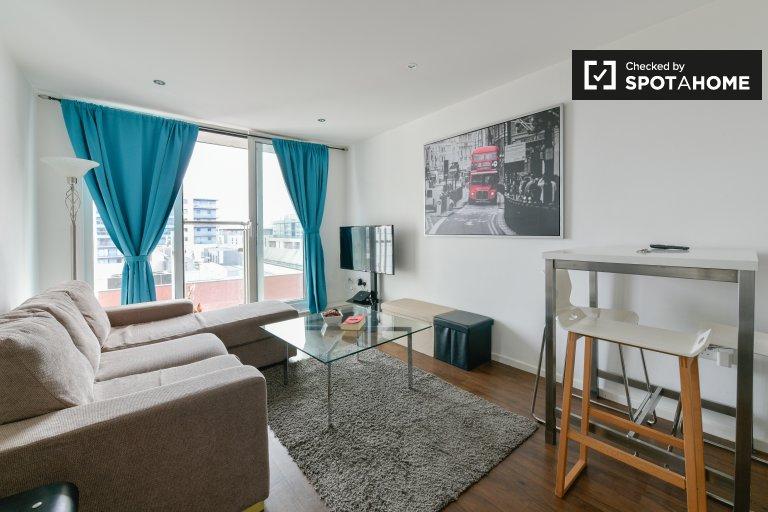 Urocze mieszkanie z 1 sypialnią do wynajęcia w Royal Victoria w Londynie