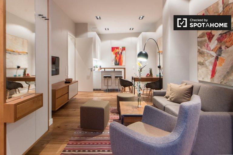 Ekskluzywny apartament z 1 sypialnią do wynajęcia w Mitte w Berlinie