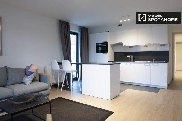 Elegant 1-bedroom apartment for rent in Evere, Brussels