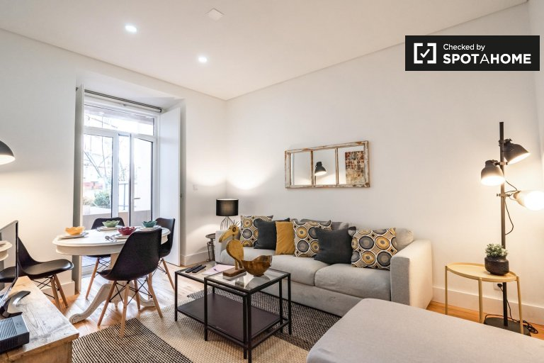 Appartamento con 2 camere da letto in affitto ad Arroios, Lisbona