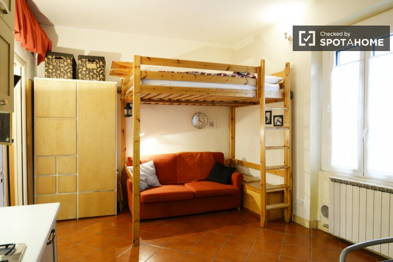 Studio with lofted bed near Milan city center, 10 minutes from Politecnico di Milano