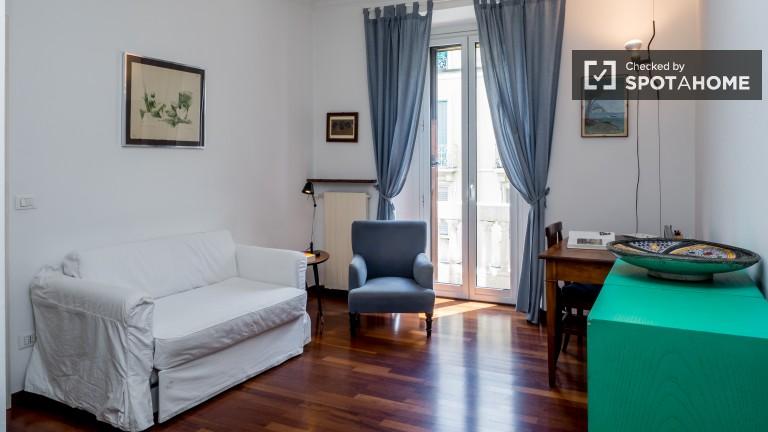 Apartamento luminoso de 2 dormitorios en alquiler en Porta Venezia, Milán