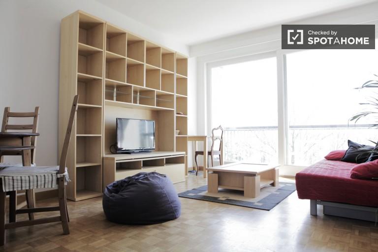 Apartamento de 1 dormitorio con balcón en alquiler en Bruselas