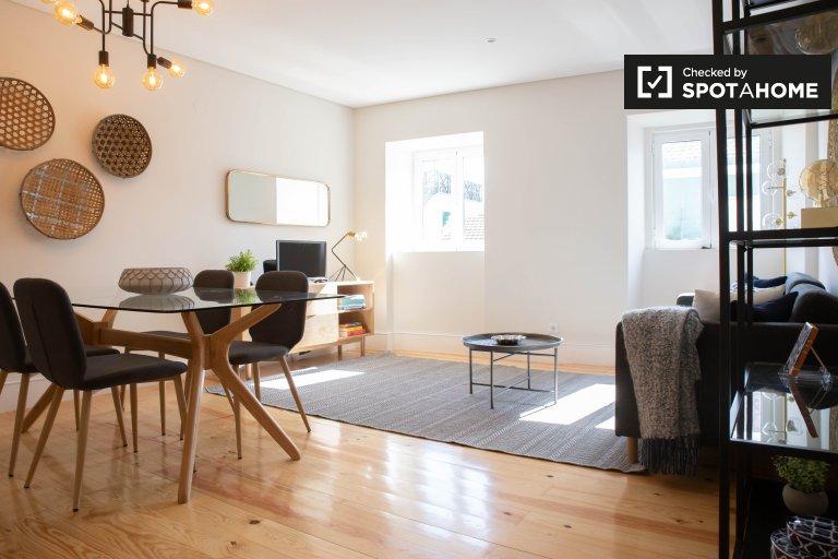 Lizbon'da Penha de França kiralık 3 yatak odalı daire.