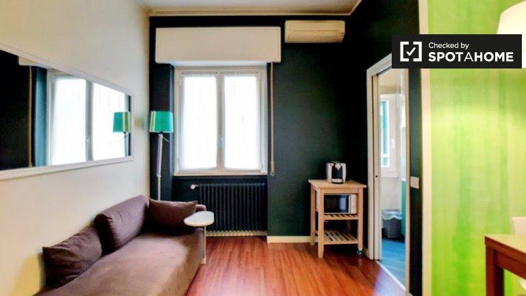 Apartamento de 1 quarto ensolarado para alugar em Loreto, Milão