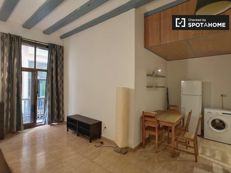 Elegante apartamento de 1 dormitorio en alquiler en el Barri Gòtic, Barcelona