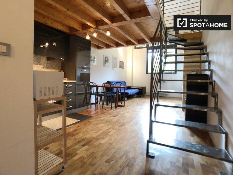 Villapizzone, Milano'da kiralık geniş stüdyo daire