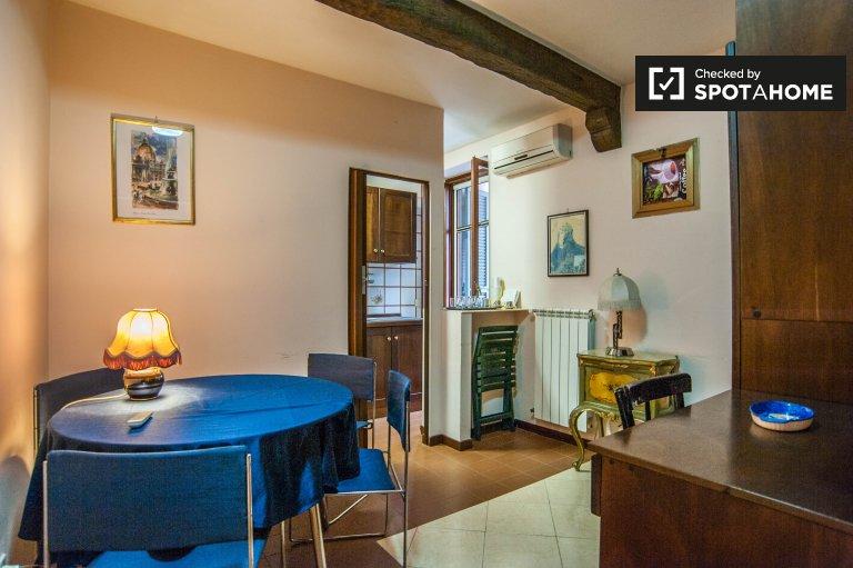 Lumineux appartement d'une chambre à Centro Storico, Rome