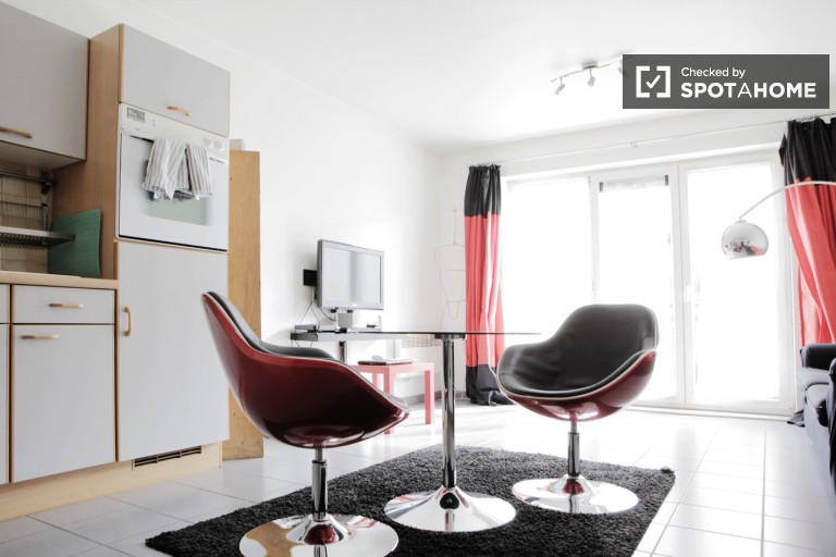 Furnished Studio with Washer Dryer in Koekelberg, Brussels