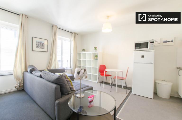 Práctico apartamento de 1 dormitorio en alquiler en el centro de Bruselas