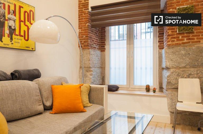 Chic Studio-Wohnung zur Miete in Lavapiés, Madrid