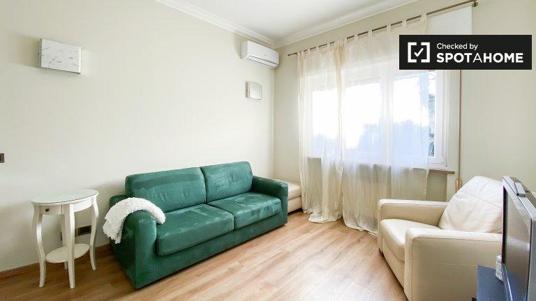 Apartamento de 1 quarto para alugar em Monte Sacro, Roma