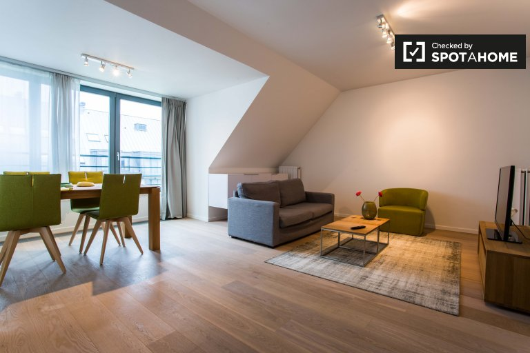 Stylish 1-bedroom apartment for rent in Evere, Brussels