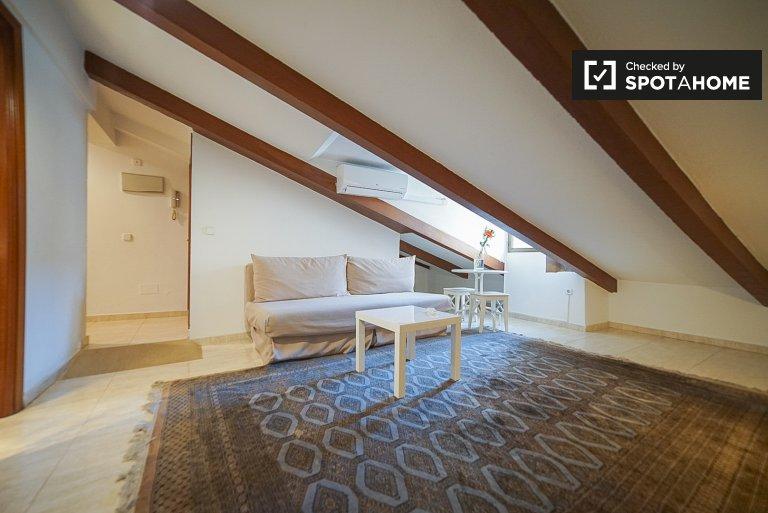 Elegancki 1-pokojowy apartament do wynajęcia w Centro w Madrycie