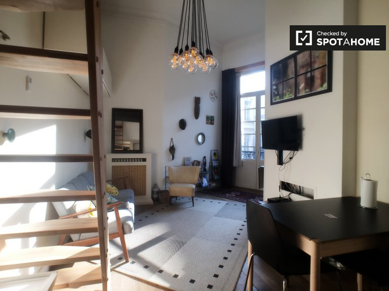 Stylish studio apartment for rent in Brussels City Center