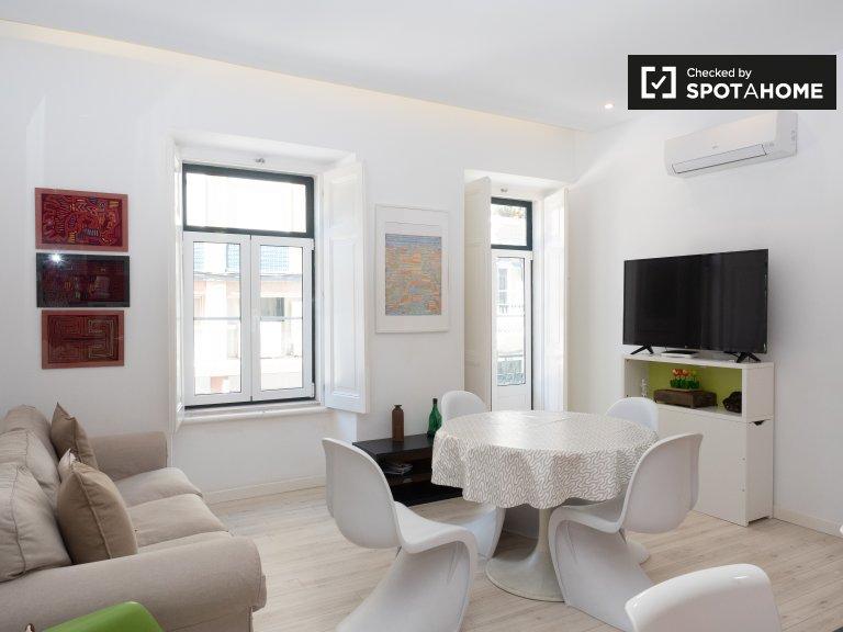Luminoso appartamento con 2 camere da letto in affitto ad Arroios, Lisbona