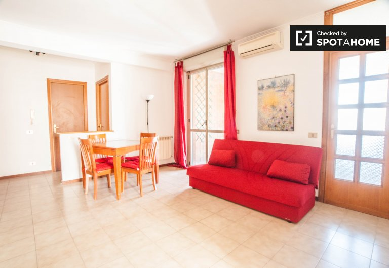 Renovated 2-bedroom apartment with balcony for rent in Colle Salario