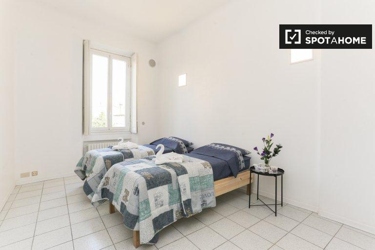 Łóżka do wynajęcia w pokoju wieloosobowym, apartament z 2 sypialniami, Precotto