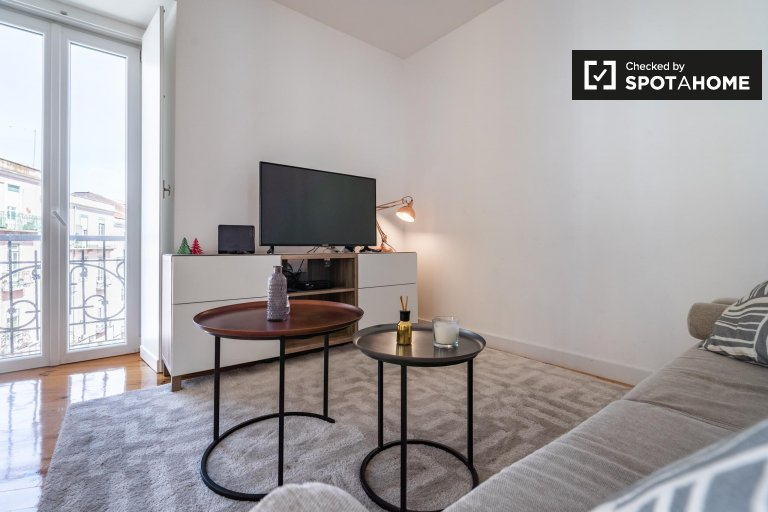 Moderno appartamento con 2 camere da letto in affitto ad Arroios, Lisbona