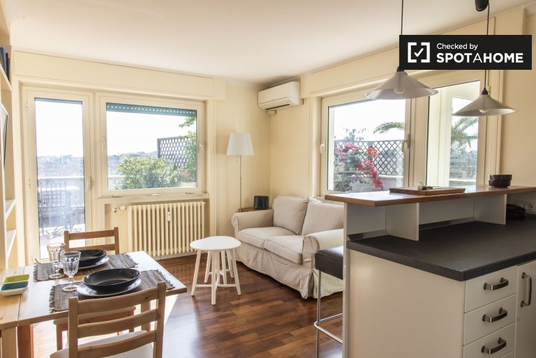 Stylish 2-bedroom apartment for rent in Balduina, Rome