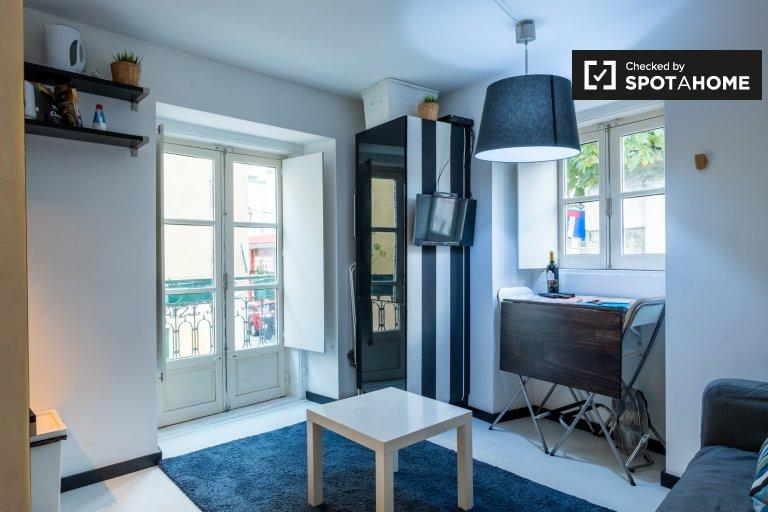 Bairro Alto, Lizbon'da kiralık 1 yatak odalı daire