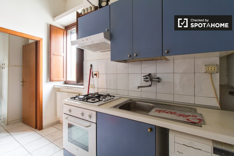 Furnished 1-bedroom apartment for rent in Aurora, Turin