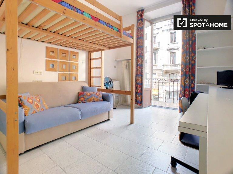 Studio apartment for rent in Sant'Ambrogio, Milan