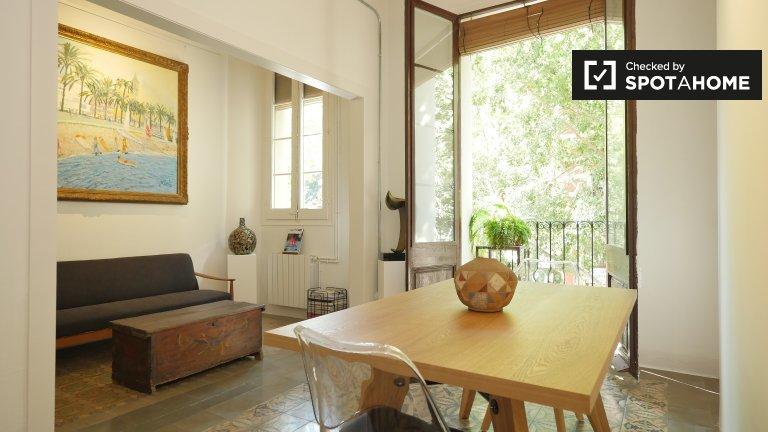 2-pokojowe mieszkanie do wynajęcia w Eixample Esquerra, Barcelona